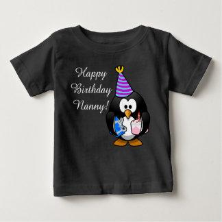 Custom cute Happy Birthday Nanny baby Penguin Baby T-Shirt