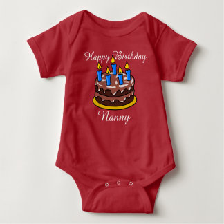 Custom cute Happy Birthday Nanny  baby Shirt