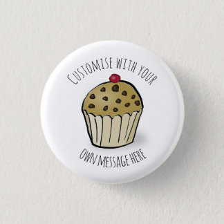 Custom Cute Mini Muffin 1 Inch Round Button