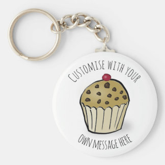 Custom Cute Mini Muffin Keychain