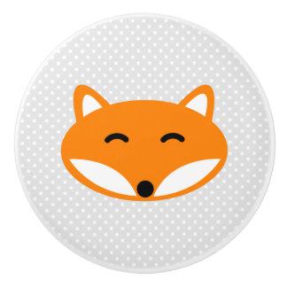 Custom cute red fox nursery door and drawer knobs