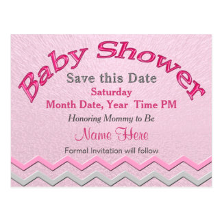 Custom Cute Save the Date for Baby Shower Cards Postcard