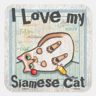 Custom Cute Siamese Cat Lover Stickers
