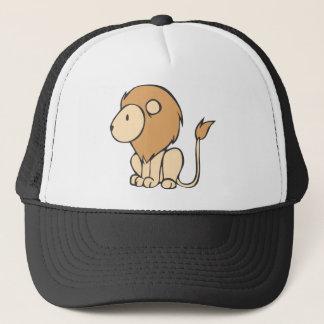 Custom Cute Sitting Baby Lion Cartoon Trucker Hat