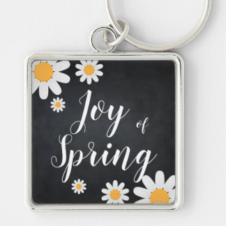 Custom Daisy Blackboard Spring Season Event Keychain