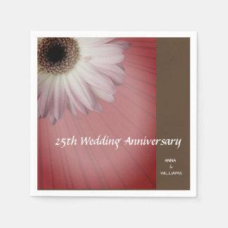 Custom Daisy Paper Napkins For anniversary Parties
