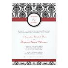 :custom: Damask black/red Wedding Invitation
