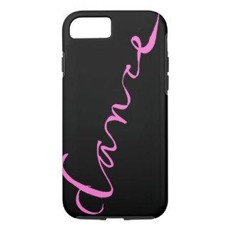 Custom Dance Script in Pink Lettering iPhone 8/7 Case