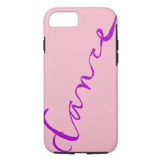 Custom Dance Script in Purple Lettering iPhone 8/7 Case
