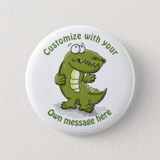 Custom Dancing Crocodile Cartoon 2 Inch Round Button