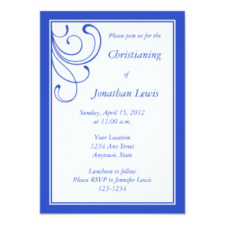 Custom Dark Blue Invitations and Announcements