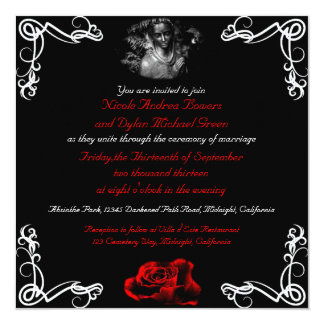 Custom Dark Goth Wedding Invitations