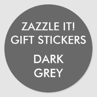 Custom DARK GREY ROUND Large Gift Stickers