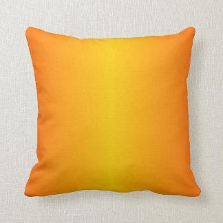 Custom Dark Orange Yellow Throw Pillow