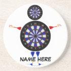 Custom Dart Board Man Fun Coaster