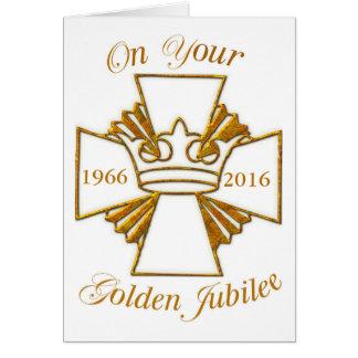 Custom Date Golden Jubilee Congratulations, Gold C Card