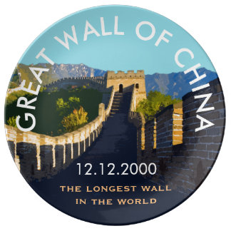 Custom Date: Great Wall of China Commemorative Porcelain Plate