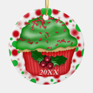 CUSTOM DATE/NAME CUPCAKE Ornament 2012