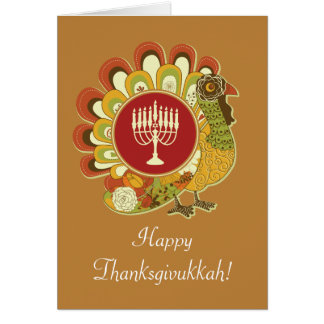 Custom Decorative Turkey Menorah Card