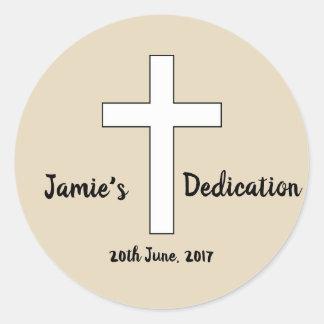 Custom Dedication sticker