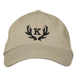 Custom deer antler monogram hunting hat