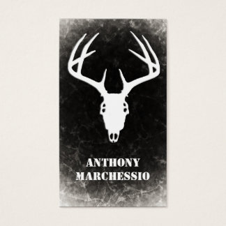 Custom Deer Hunting Skull Business Card