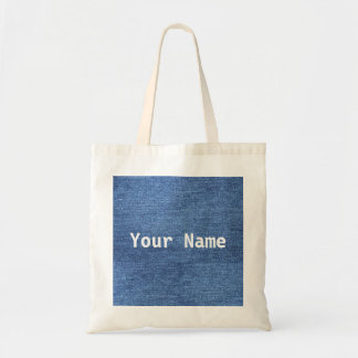 Custom Denim Tote With Your Name Or Message
