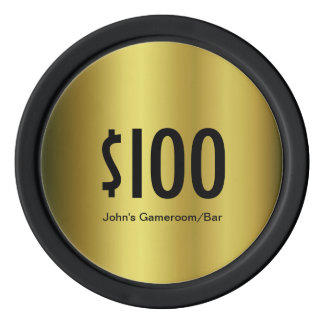Custom Denomination Golden poker chip