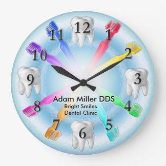 Custom Dentist Clock Rainbow