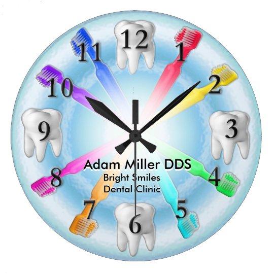 Custom Dentist Clock Rainbow