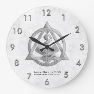 Custom Dentist Clock White