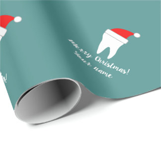 Custom dentistry Christmas wrapping paper