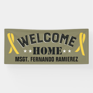 Custom Deployment Welcome Home Yellow Ribbons Banner
