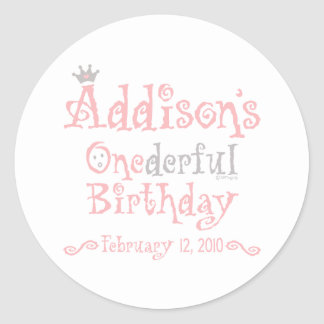 Custom Design - Addison Classic Round Sticker