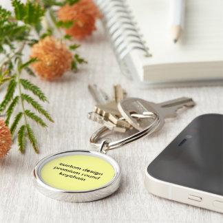 Custom design premium round keychain