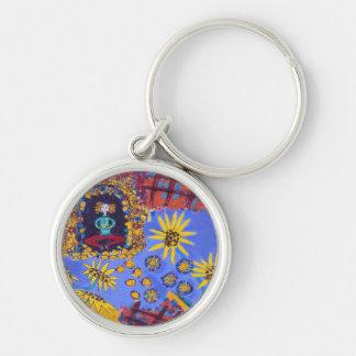 Custom design round keychain
