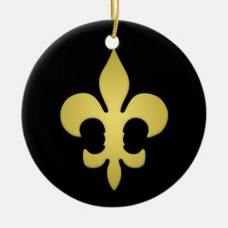 """Custom Design """"Super Saints"""" Ceramic Ornament"""