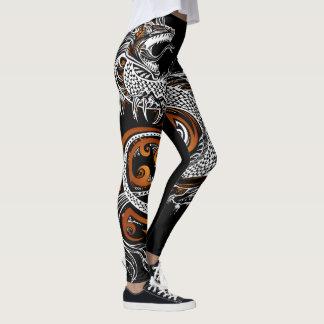 Custom Designed Asian Dragon Leggings