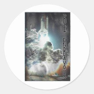 Custom Designed Endeavor Shuttle Launch Round Sticker
