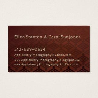 Custom Designed Marketing Material For Photographs Business Card