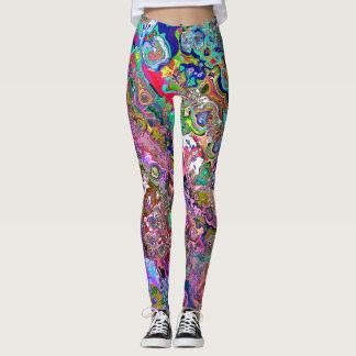 Custom Designed Oil Paint Leggings