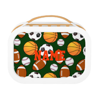 Custom Designed Sports Theme Pattern Personalized Lunch Box