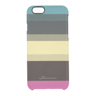 Custom Designer Colors Striped Clear iPhone 6 case