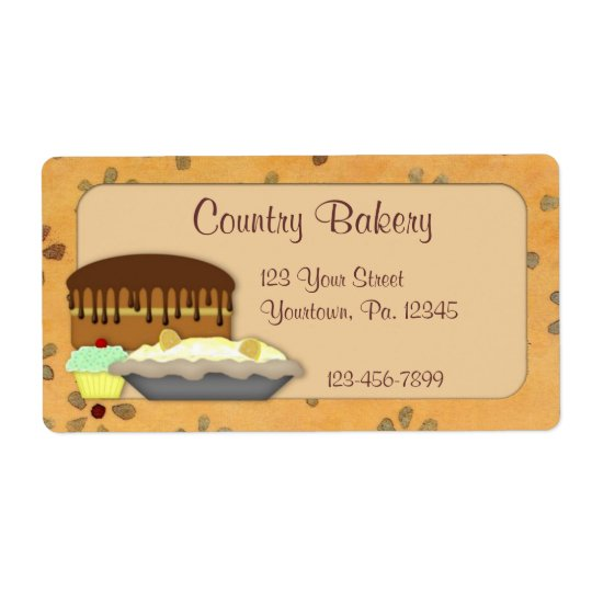 Custom Desserts Label