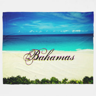 Custom Destination Tropical Ocean View Fleece Blanket