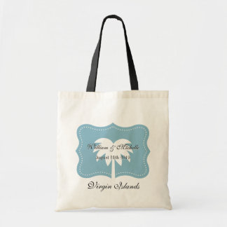 Custom destination wedding tote bag with chic logo