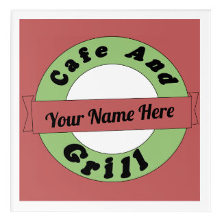 Custom Diner Acrylic Wall Art