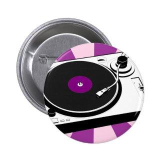 Custom Disco Turntable Retro Record 2 Inch Round Button