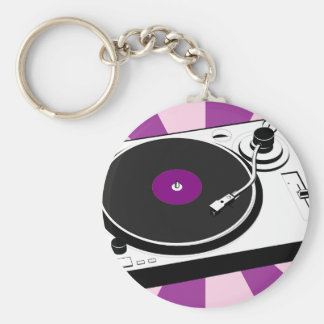 Custom Disco Turntable Retro Record Basic Round Button Keychain