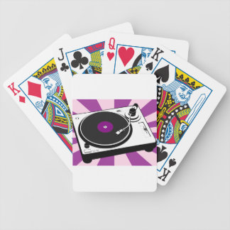 Custom Disco Turntable Retro Record Bicycle Playing Cards